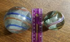 Vintage Large Glass Swirl Marbles