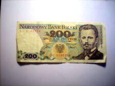 200 zlotych Pologne 1986