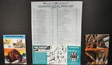 Harrington and Richardson 1969 '70 Catalogs,Gun Pointers Cartoons & Price List