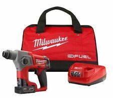 Milwaukee 2416-21XC M12 De Combustível 12V 5/8 Polegadas 4.0Ah Sds-Plus Rotary Hammer Kit Novo!