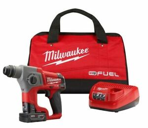 Milwaukee 2416-21XC M12 FUEL 12V 5/8-Inch 4.0Ah SDS-Plus Rotary Hammer Kit NEW !