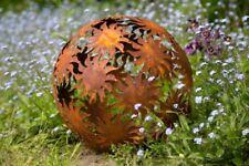 Dekokugel, Rost Ø 40cm Sonne Deko-Kugel Gartenkugel Edelrost Kugel