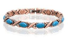 NEW COPPER MAGNETIC TURQUOISE LINK BRACELET  womens STYLE#TQ-D  jewelry health