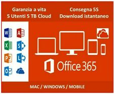 MICROSOFT OFFICE 365 2019 32/64 BIT PRO PLUS LICENZA A VITA 5 DISPOSITIVI 5TB