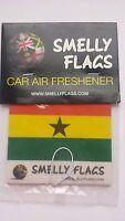 Smelly Flags -Car Air Freshener -GHANA -  Gift Present Best match Christmas