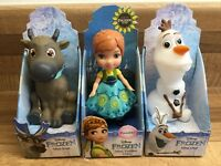 Disney Frozen Mini Toddler Dolls Sven, Olaf, Anna - NEW