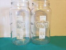 New listing Deep Eddy Vodka Set of 2 12 oz. Mason Jar Style Cocktail Glasses