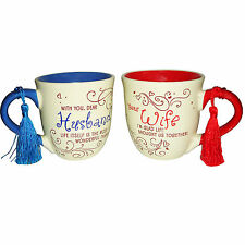 AR COUPLE COFFEE MUG ' BEST HUSBAND BEST WIFE ' ANNIVERSARY GIFT FOR A COUPLE