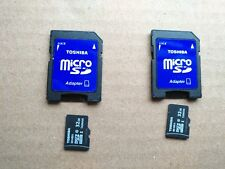 LOT OF 2 Toshiba 32 GB Class 10 Micro SD MicroSD Card w Adapter + 2 MON WARRANTY