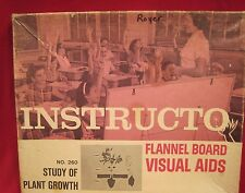 Learning Set Flannel Board Teaching Aid About Plant Growth By Instructor 1968