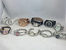 Wholesale Lot Ladies Fossil Stainless/Leather Crystal Accented Dials(10 watches)
