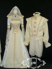 Vestido boda medieval, Marfil Vestido para Celta en Crushed Velvet y boda Brocade.