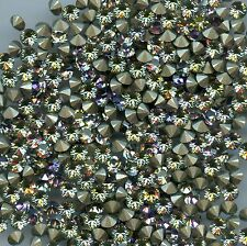1028 Pp32 VL 30 Strass Swarovski fond conique 4mm Vitrail Light F