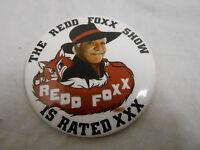 """VINTAGE PINBACK BUTTON #48- 082 - 3"""" REDD FOXX SHOW"""