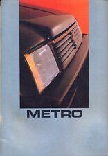 Austin Metro 1000 Special E L HLE 1300S Vanden Plas MG French market brochure