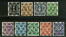 GERMANY #593A var - 1948 1pf - 80pf Overprints