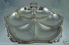 VINTAGE SILVER PLATED SHELL PATERN SERVING DISH/BOWL/TRAY W/HANDLE