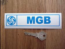 "MGB Leyland Classic Car STICKER 6"" Oblong Vinyl or Lick'n'Stick MG British BL"