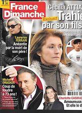 FRANCE DIMANCHE N° 3607--ATTIAS TRAHIE/FERRARI MORT PERE/DRUCKER/CASIRAGHI