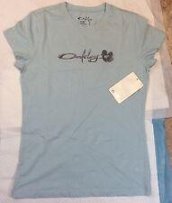 Womens Oakley T-Shirt Caribean Blue Size Small (E-15) New