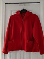 CATO Sz 22/24 red Plus Sportswear Hooded Long Sleeve zip