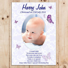 Personalised Boys Christening Baptism Day Party PHOTO Poster Banner N14