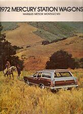 Mercury Station Wagon 1972 Canadian Market Sales Brochure Meteor Montego Marquis