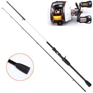 New Bait caster Rod & Reel Combo 2.1 meter rod Fishing combo shore kayak boat RH