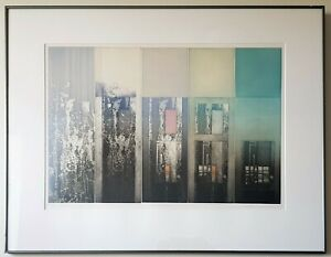 Abstract Cityscape, City Sun Set, 5 panel hand signed Limited Edition Etching