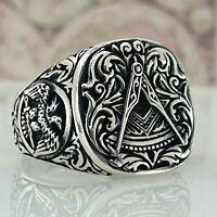 Solide 925 Sterling Silber Mens Ring Handgefertigt Türkei AAA Quality