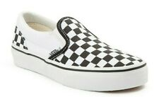 VANS KIDS Classic Slip-On (Checkerboard) Black/True White Fast Shipping