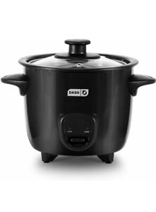Black Mini Rice Cooker Steamer, Removable,Keep Warm Function