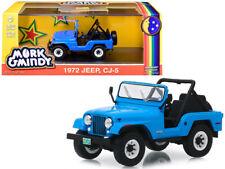 """1972 Jeep CJ-5 Blue """"Mork & Mindy"""" (1978-1982) TV Series 1/43 Diecast Model Car"""