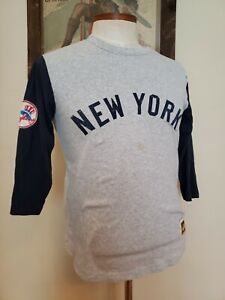 Mitchell & Ness 3/4 Sleeve T Shirt S Cooperstown Collection New York Yankees