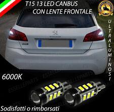 LAMPADE RETROMARCIA 13 LED T15 W16W CANBUS PER PEUGEOT 308 II 6000K NO ERROR
