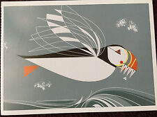 CHARLEY CHARLES HARPER    The Name is Puffin   Bird  Art print  New  Ocean waves