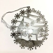Equestrian Horse Christmas Tree Ornament Silver The Weather Outside is Frightful
