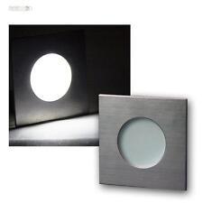 LED Einbaustrahler Edelstahl IP44, 12V DC 1,2W, Spot Leuchte Lampe Einbauleuchte