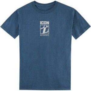 Icon Men's Stamptup Heather Blue T-Shirt - Men's Sizes