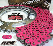 Pink SUZUKI GSXR750 2000-03 EK 525 X-Ring Chain and Sprockets Kit Quick Accel