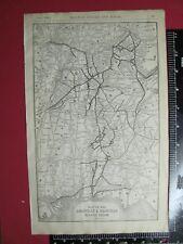 RARE ORIGINAL 1906 LOUISVILLE & NASHVILLE RAILROAD SYSTEM MAP w STATIONS CONNECT