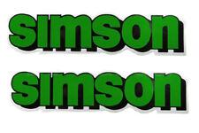 2x Aufkleber Schriftzug SIMSON grün S50, S51, S70, S53, S83