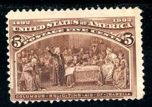 USAstamps Unused F US 1893 Columbian Expo Soliciting Aid Scott 234 NG