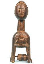 Art Africain - Poulie Baoulé Ancienne et Usuelle - Quality Heddle Pulley - 20Cms