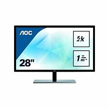 AOC U2879VF Featured 28'' 4K UHD 2160p LED-Backlit LCD Monitor Black/Silver
