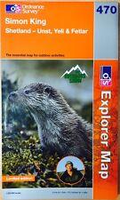 NEW Ordnance Survey 470 Limited Edition SIMON KING Shetland - Unst Yell Fetlar