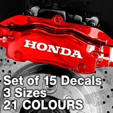HONDA Quality Brake Caliper Decals Stickers - 3 SIZES - 21 COLOURS