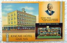 MULTI VIEW LINEN POSTCARD KINCAID HOTEL UVALDE TEXAS #12
