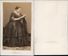 Maria Marietta Alboni, cantatrice Vintage albumen CDV.Maria Anna Marzia Alboni
