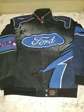 Ford Racing Jacket JH Design Size Large Vintage blue black